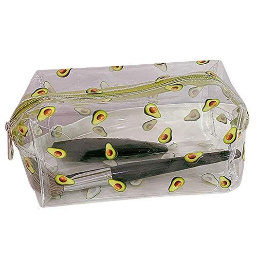 Alsu3luy02LD Trousse de toilette de voyage en PVC transparent Motif fruits