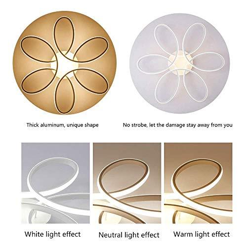 85W LED Lampada da soffitto Creativo Forma di Fiore Plafoniera Moderna Acrilico Paralume in Alluminio Soggiorno Ufficio luci di soffitto Bianco Dimmerabile 3000-6000K