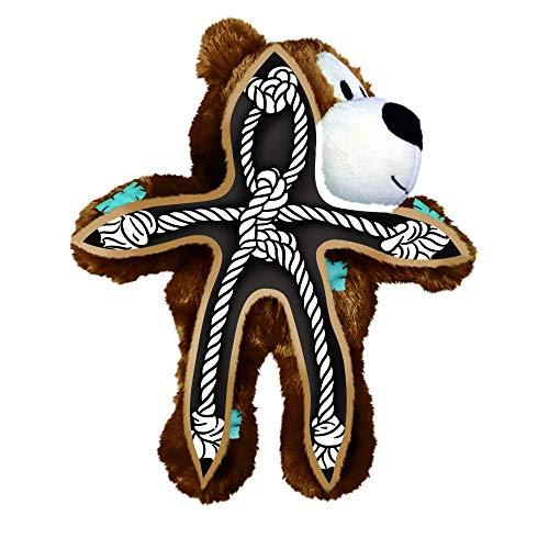 KONG - Wild Knots Bear - Juguete con Cuerdas antirrotura Perros de Raza Mediana/Grande