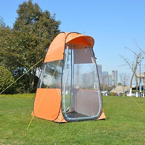 LYYJIAJU Privacidad Exterior WC Tiendas de campaña Portátil de privacidad Ducha WC campingtent Tienda de fotografía móvil Tienda de la Pesca al Aire Libre de Invierno con ala Especial de la Tapa