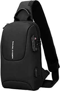 Shoulder Bag, Morelian MARK RYDEN TSA Lock Crossbody Men Bag Waterproof USB Charge Chest Pack Short Travel Messengers Ches...