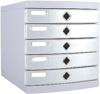 Armoires de Rangement 5 Couches Bureau Papeterie Boîte de Rangement Petit étagère Blanc sans Serrure