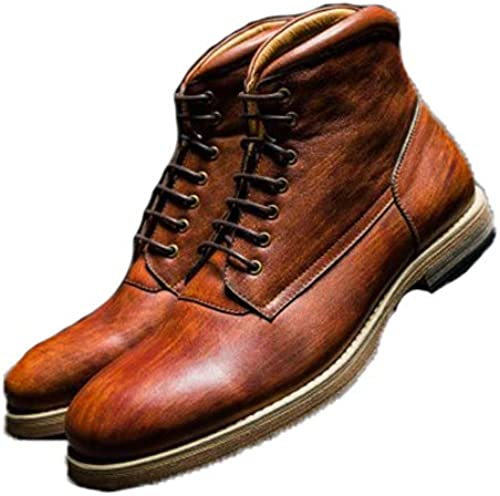 ZHRUI Stiefel Chukka de Charol Pulido para Hombre Stiefel Antideslizantes duraderas (Farbe   Caqui, tamaño   EU 41)
