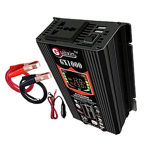 Gracy 500W de Potencia del inversor 12V DC para Adaptador de Enchufe de CA del inversor 110V Coche de Onda sinusoidal Pura del convertidor de energía, transmisor