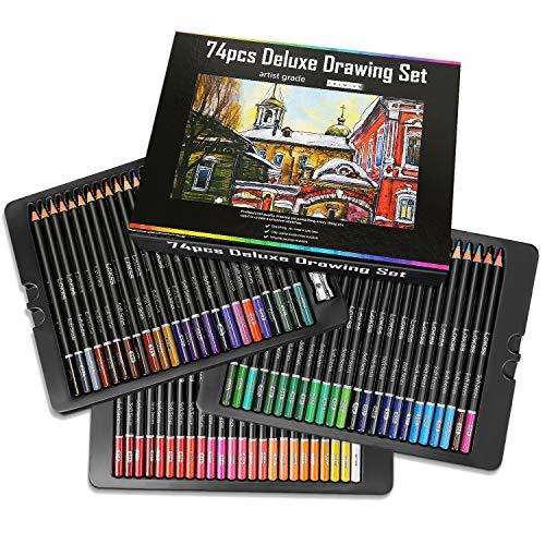 AIQIANXIN 72 Lápices de Colores 72 Colores Únicos para Libro de Colorear para Adultos para Artistas Adultos y Niños