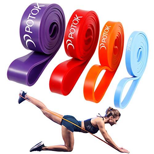 POTOK Premium Pull Up Fitnessbänder, Widerstandsbänder Gymnastikband Resistance Bands Set für Krafttraining, Mobilitätstraining, Fitness Klimmzug und Pilate Crossfit Yoga
