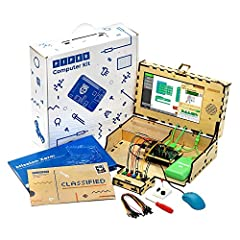"BUILD A COMPUTER: The Piper Computer Kit is like a wooden puzzle with all the electronic components to make a fully functioning computer. Includes a RaspberryPi, 9"" screen, DIY speaker, rechargeable battery and custom games to teach your kids how to ..."