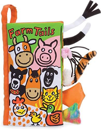Jellycat Soft Cloth Baby Books, Farm Tails