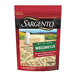 Sargento, Shredded Mozzarella Natural Cheese-Off The Block Traditional Cut, 8 oz