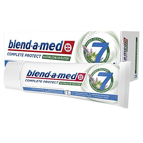 Blend-a-med Complete Protect7 Natürliche Kräuter Zahncreme 75ml, 12er Pack (12 x 75 ml)