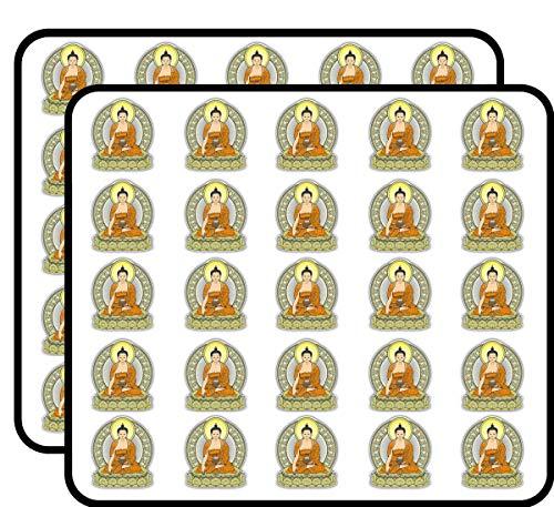 Gautama Buddha Art Decor Sticker for Scrapbooking, Calendars, Arts, Kids DIY Crafts, Album, Bullet Journals 50 Pack