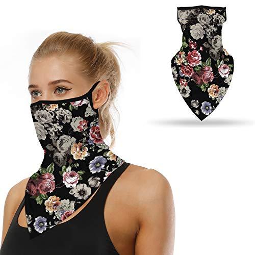MUJUZE Bandana Halstuch Mundschutz für Herren Damen Multifunktionstuch Schal Kopftuch Dreieckschal Stirnband 3D-Druck Fahrrad Face Shield Sonnenschutz sturmmaske Sturmhaube (Style 17)