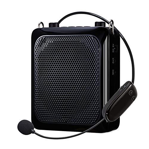 Beweegbare voice versterker, 25 W mini audio bluetooth luidspreker USB-spraakversterker met UHF draadloze microfoon voor leraren Tourist