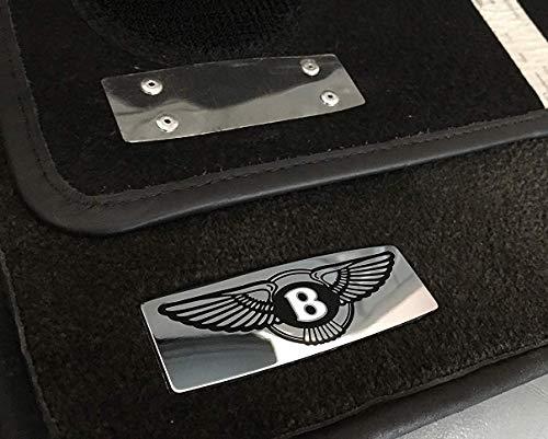 kit-car Bentley Style Floor Mats Metal Emblem Badge Logo for Bentley Bentayga Continental GT Flying Spur Mulsanne and Other Models – Set of 2 pcs