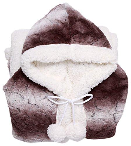 Chic Home Shady Snuggle Hoodie 51x71 Robe Brown, Standard