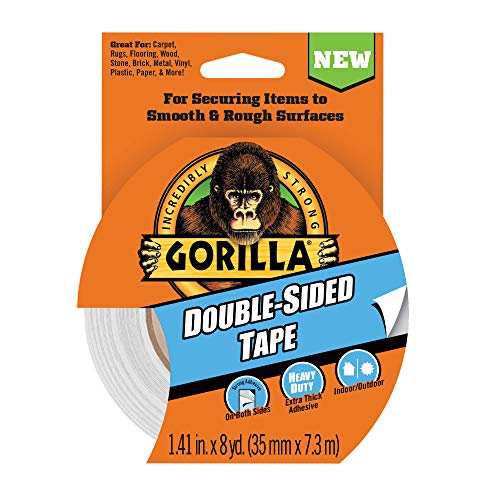 Gorilla DoubleSided Tape 141quot x 8yd Gray Pack of 1