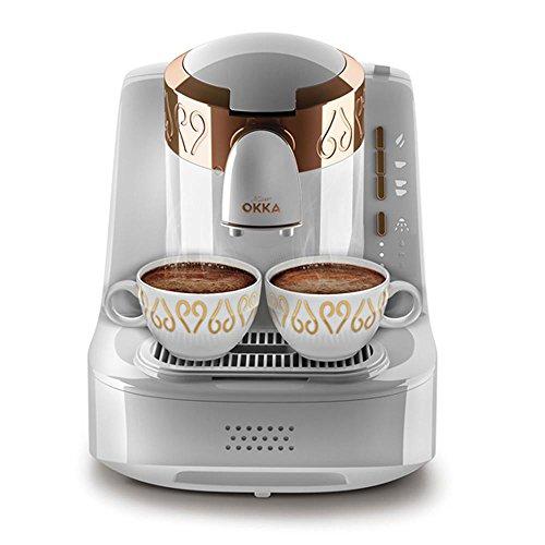 Arzum OK001w Okka Turkish Coffee Machine (White), Aluminium, Weiß