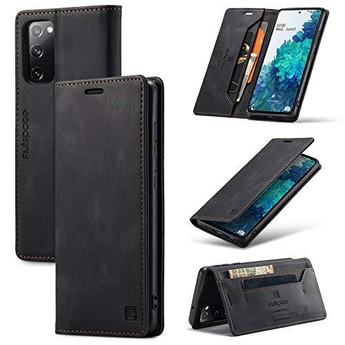 Cáscara del teléfono Funda de cuero suave de cuero suave MULFUNCION MATE para Samsung Galaxy S20 Fe, 2 en 1 Funda de cubierta de billetera magnética de 1 en 1, estuche de cáscara de la parte inferior