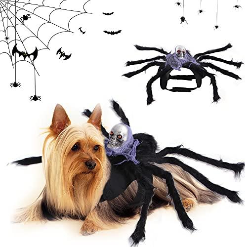 Araña Disfraces Perro Ropa, Ropa de Mascota Halloween, Disfraz de Mascotas de Halloween, Disfraces Divertidos Halloween para Mascotas, para Disfraces de Mascotas de Halloween (Púrpura)