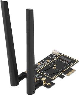 Bewinner PCI-E M.2 /NGFF Convertidor de Tarjeta de Red WLAN Adaptador de Escritorio para 8260 7265 1535 7260 con 2.4 / 5G Antena de Banda Dual Admiten WiFi PCIe y USB BT