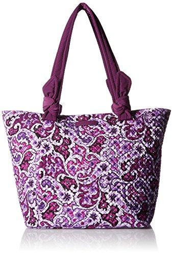 Vera Bradley Women's Signature Cotton Hadley East West Tote Bag, Lilac Paisley