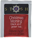 Stash Tea Christmas Morning Black & Green Tea 100 Count Tea Bags in Foil (Packaging May Vary) Individual Tea Bags for Use in Teapots Mugs or Cups, Black Tea and Green Tea, Brew Hot or Iced