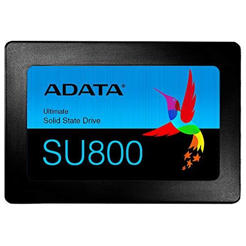 ADATA Ultimate SU800 - 512 GB, interne Solid-State-Drive mit 3D-NAND-Flash, 2.5 Zoll, schwarz
