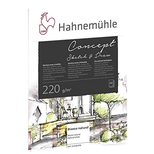 Concept Sketch Draw 220 G/M2, Bloco Desenho, Tam A4, 20 Fls, Hahnemuehle