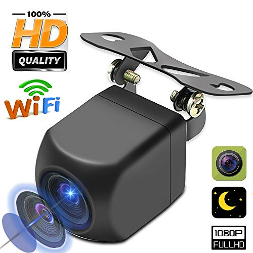 Car Backup Camera - WiFi Wireless HD 1080p - Rear View Camera - Waterproof Reverse Auto Back Up Car Camera - High Definition - Best 120 ° Wide View Angle - Fits All Vehicles by UNITOPSCI