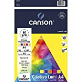 Papel Colorido A4 80g/m², Canson, 66667162, Criativo Lumi, 5 Cores, 50 Folhas