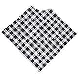 Poncho per l'allattamento al seno, copertura per la privacy sicura, copertura per l'allattamento al seno, leggera per la sciarpa della copertura del(Black and white grid, Feeding gown)