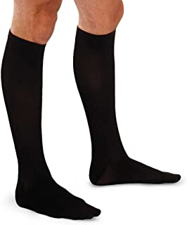 Therafirm Core-Spun Mild (15-20mmHg) Graduated Compression Support Knee High Socks (Black, XXL)