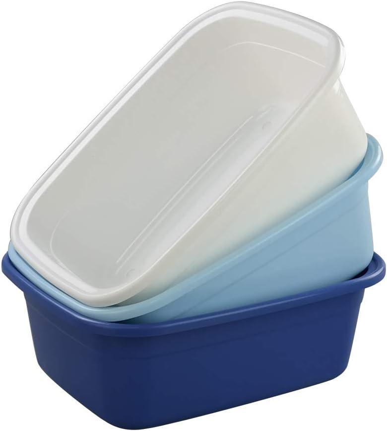 trust Qqbine Some reservation 16 Quart Plastic Kitchen Dish Pan Packs 3 Sink Basin