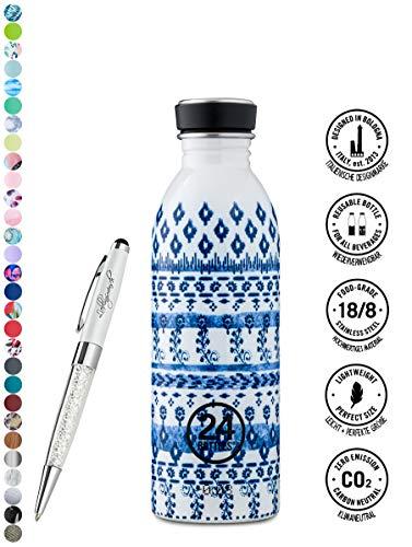 24 Bottles drinkfles Urban 250 ml | 500 ml | 1000 ml verschillende Kleuren incl. Lieblingsmensch balpen 500 ml blauw
