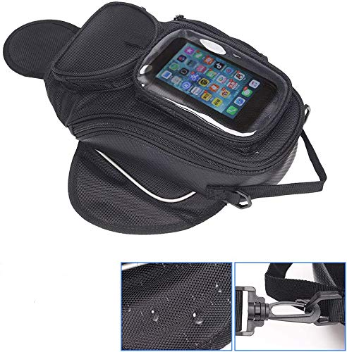 Motorcycle Tank Bag, Waterproof Tank Bag with Strong Magnetic, Gas Oil Fuel Tank Bag,for Honda Yamaha Suzuki Kawasaki Harley