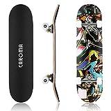 CAROMA Skateboard für Kinder, 78,7 cm, 9 Schichten, Ahorn-Deck