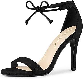 Women's Ankle Strap Tie Up Stiletto Heel Dress Sandals