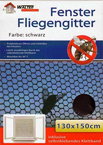10er Set Fenster Fliegengitter schwarz 130x150cm Fliegennetz Insektenschutz