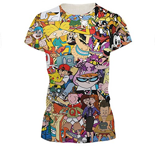 Azuki Unisex Stylish Casual Design 3D Printed Short Sleeve T Shirts Tees