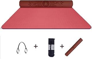 FANGFA-yujd Colchonetas De Yoga Antideslizante Esterillas Ensanchamiento Y Engrosamiento Principiantes con Bolsa De Yoga (3 Colores)