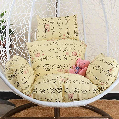 chair Swing Cushion,Hanging Egg Pads, Non-Slip Soft Swing Cushions Without Stand Indoor Balcony Pad Garden Patio-g,Colour:T (Color : L)