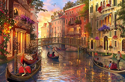 WUUNDENTOY Jigsaw Puzzle Sunset in Venice 1,500 Pieces Gold Edition 12 Years Old (2317)
