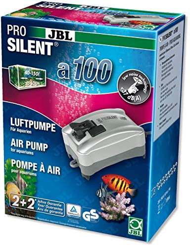 JBL ProSilent a100, 6054100, Luftpumpe für Süß- und Meerwasseraquarien von 40 - 150 L
