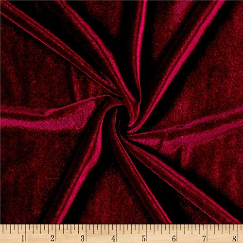 Ben Textiles Stretch Velvet Wine Fabric By The Yard