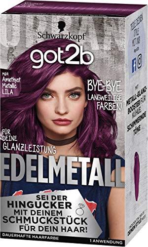 Schwarzkopf got2b Edelmetall Haarfarbe M69 Amethyst Metallic Lila, 1er Pack (1 x 142 ml)