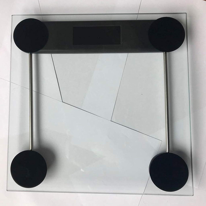 アプト委任はっきりしないHJBH高品質強化ガラス素材電子スケールMTB-303コンパクトバスルームスケール体重測定 - ブラックナイトビジョンバックライト28×28センチ