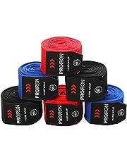 PROIRON boksbandages Handbeschermers voor boksers met duimlussen Bandages Boksen Semi-elastische bokshandschoenen met extra brede klittenbandsluiting Boksbandagehand voor boksen MMA kickboksen