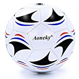 Aoneky Mini Kids Size 3 Soccer Ball – Deflated Mini Soccer Ball with Pump - Soccer Ball for Boy Girl Aged 3-8 Years Old, Children Present Toy, Small Soccerball Game for Toddler