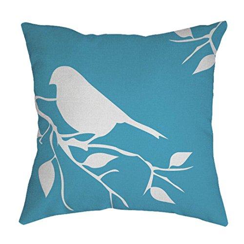 Mamum Housses de Coussin Vintage, Linen géométrique Throw Pillow Case Home Decor (Ciel Bleu)