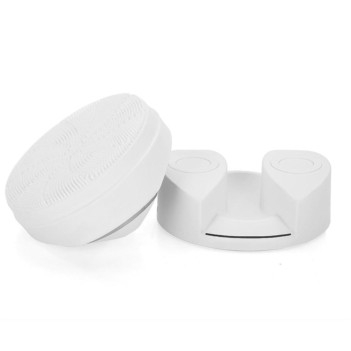 書道保持するヘッジ洗顔ブラシ 電動 毛穴ケア クレンジング ボディブラシ 顔に洗浄美顔器 美容器具 超音波 シリコー USB充電式